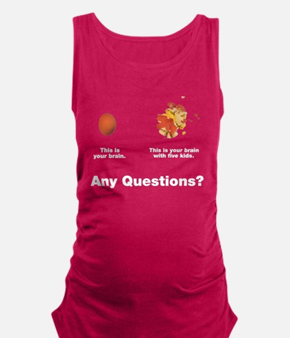 Brain with five kids Maternity Tank Top