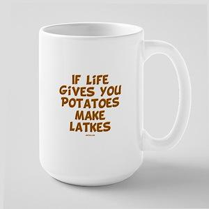Make Latkes Chanukah Large Mug