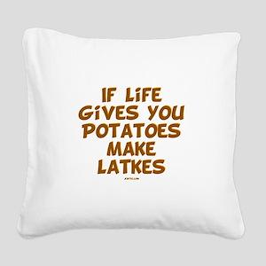 Make Latkes Chanukah Square Canvas Pillow