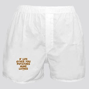 Make Latkes Chanukah Boxer Shorts