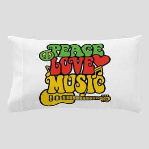 Peace-Love-Music Pillow Case