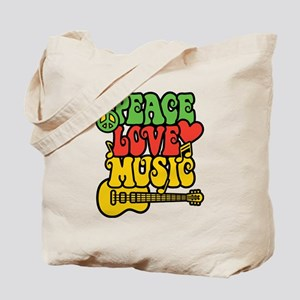 Peace-Love-Music Tote Bag