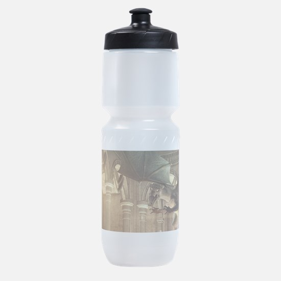 The dragon in the castle Sports Bottle