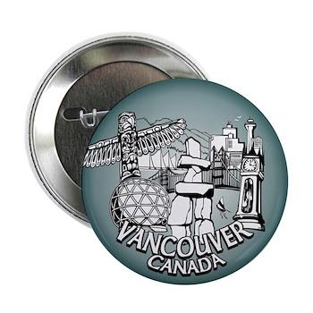 Vancouver Souvenir Buttons Vancouver Canada Gifts