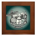 Vancouver Souvenir Framed Tile
