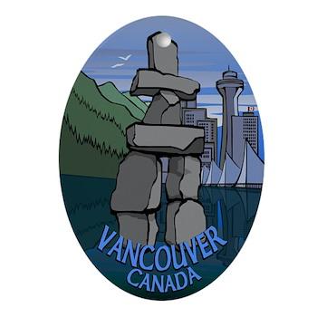 Vancouver Souvenir Ornament Keepsake B & W