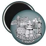 Vancouver Souvenir Fridge Magnet Vancouver BC Gift