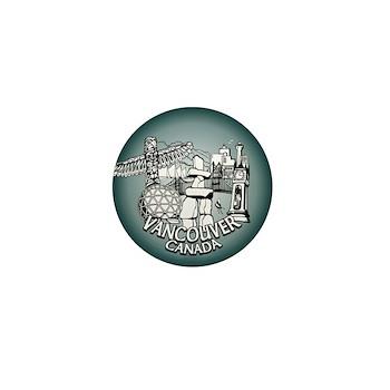 Vancouver Souvenir Mini Button / Pins 100 pack