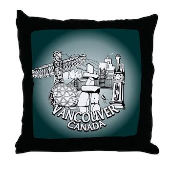 Vancouver Souvenir Throw Pillow Vancouver Gifts