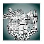 Vancouver Souvenir Tile Coaster
