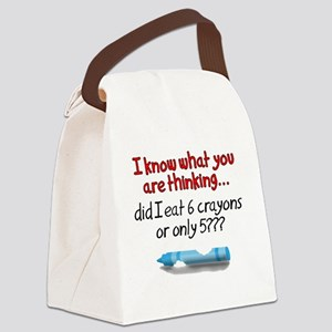 5 Crayons Canvas Lunch Bag