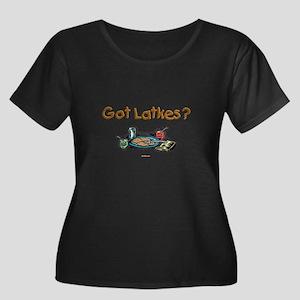 Got Latk Women's Plus Size Scoop Neck Dark T-Shirt