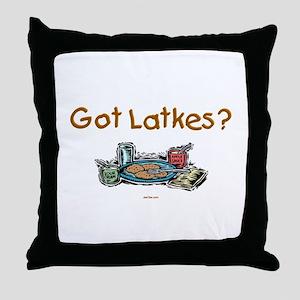 Got Latkes Chanukah Throw Pillow