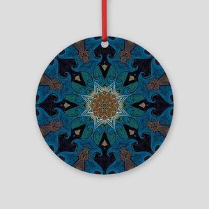 Damascus Art Mandala Ornament (Round)