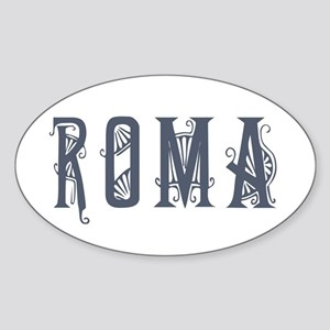 Roma 2 Oval Sticker