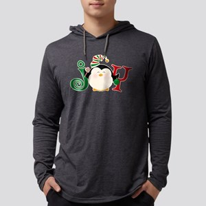 Christmas Penguin Joy 2 Mens Hooded Shirt