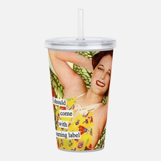 Warning Label Acrylic Double-wall Tumbler