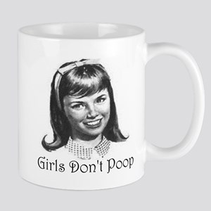 Girls Don't Poop Mugs