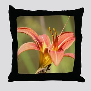 Daylily Throw Pillow