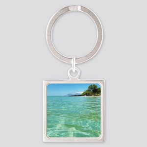 Maui Time Square Keychain