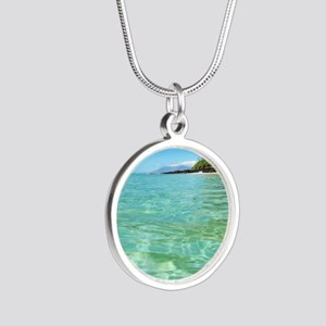Maui Time Silver Round Necklace
