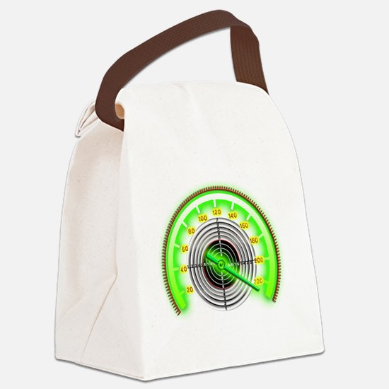Green Target Counter Canvas Lunch Bag