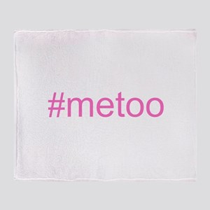 metoo w hashtag Throw Blanket