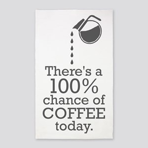 There's a 100% chance of coffee today Area Rug