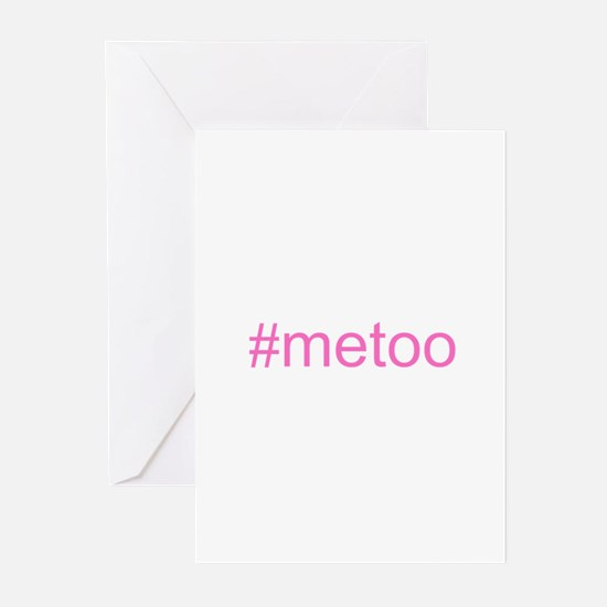 metoo w hashtag Greeting Cards