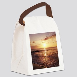 Maui Sunset Hawaiian Canvas Lunch Bag