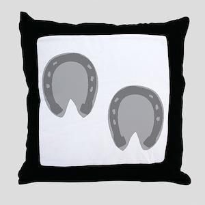Hoof Prints Throw Pillow