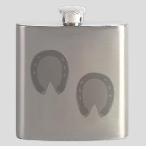 Hoof Prints Flask