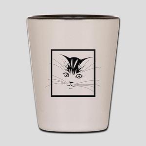 Kitten Face Shot Glass