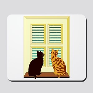 Cats At Window Mousepad