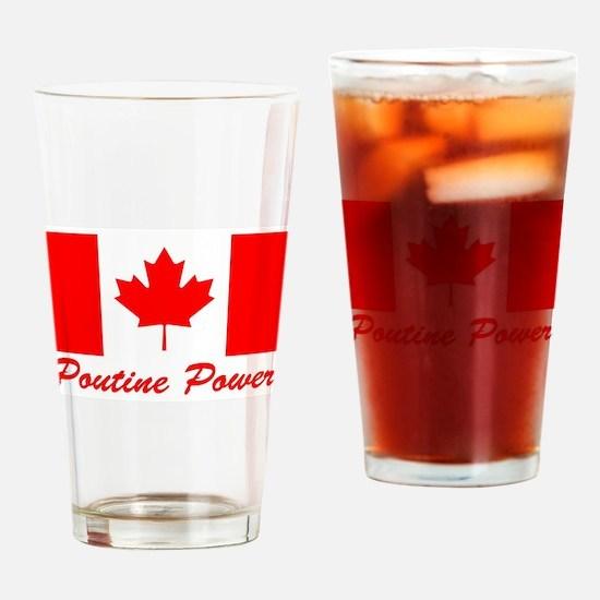 Poutine Power Drinking Glass