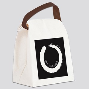 Live your Light Enso White Canvas Lunch Bag