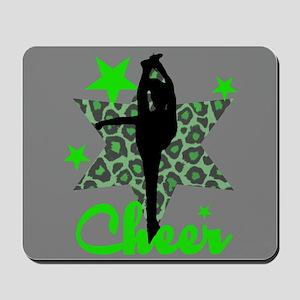 Green Cheerleader Mousepad