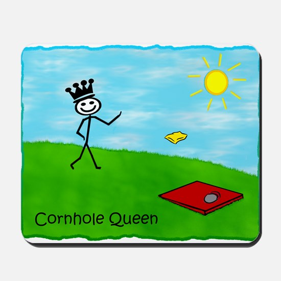 Stick Person (Cornhole Queen)  Mousepad