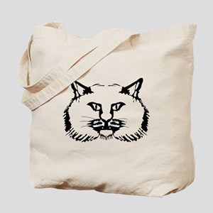 Cat Face Drawing Tote Bag