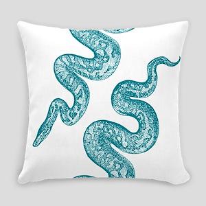 Vintage Snake Graphic Master Pillow
