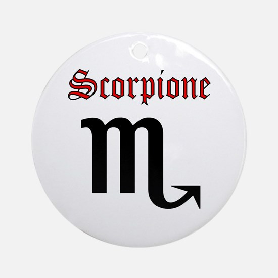 Scorpione Round Ornament