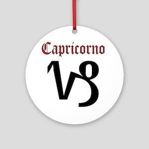 Capricorno Round Ornament