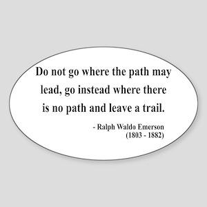 Ralph Waldo Emerson 3 Oval Sticker