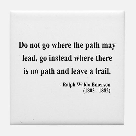 Ralph Waldo Emerson 3 Tile Coaster