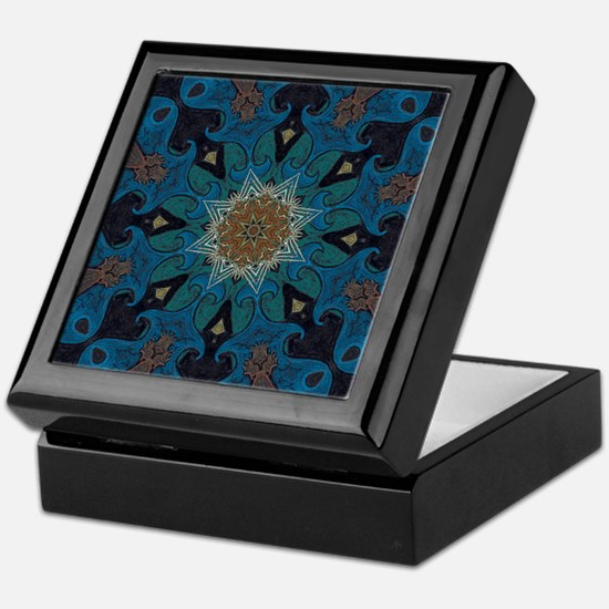Damascus Art Mandala Keepsake Box