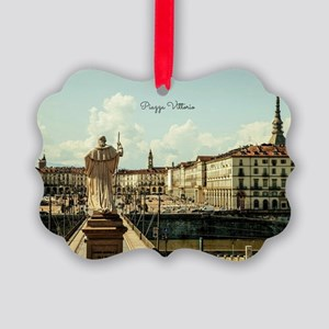 Italy's Piazza Vittorio Picture Ornament