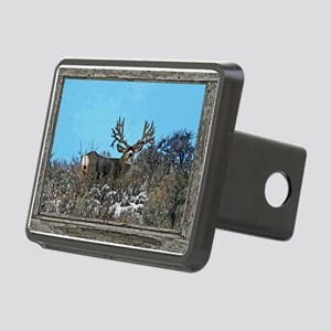 Old Cabin Window Monster b Rectangular Hitch Cover