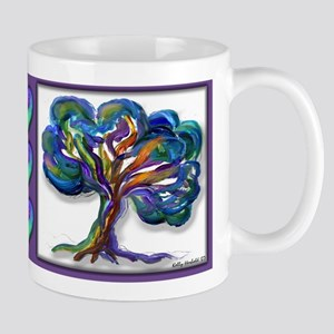 Lone Oak With Hearts Mug Mugs