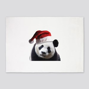 Christmas Panda Bear 5'x7'Area Rug