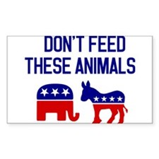 Don't Feed These Animals. Sticker (Rectangle)
